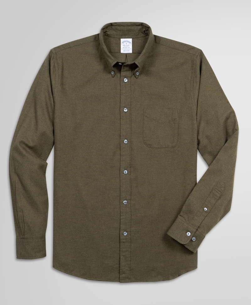 Exclusive Regent Fit Brushed Sport Shirt 썸네일 이미지 1