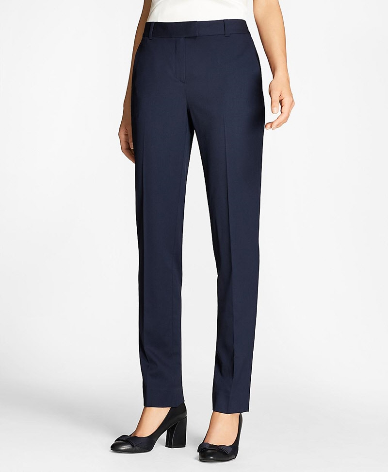 Tapered Stretch Wool Trousers 썸네일 이미지 1