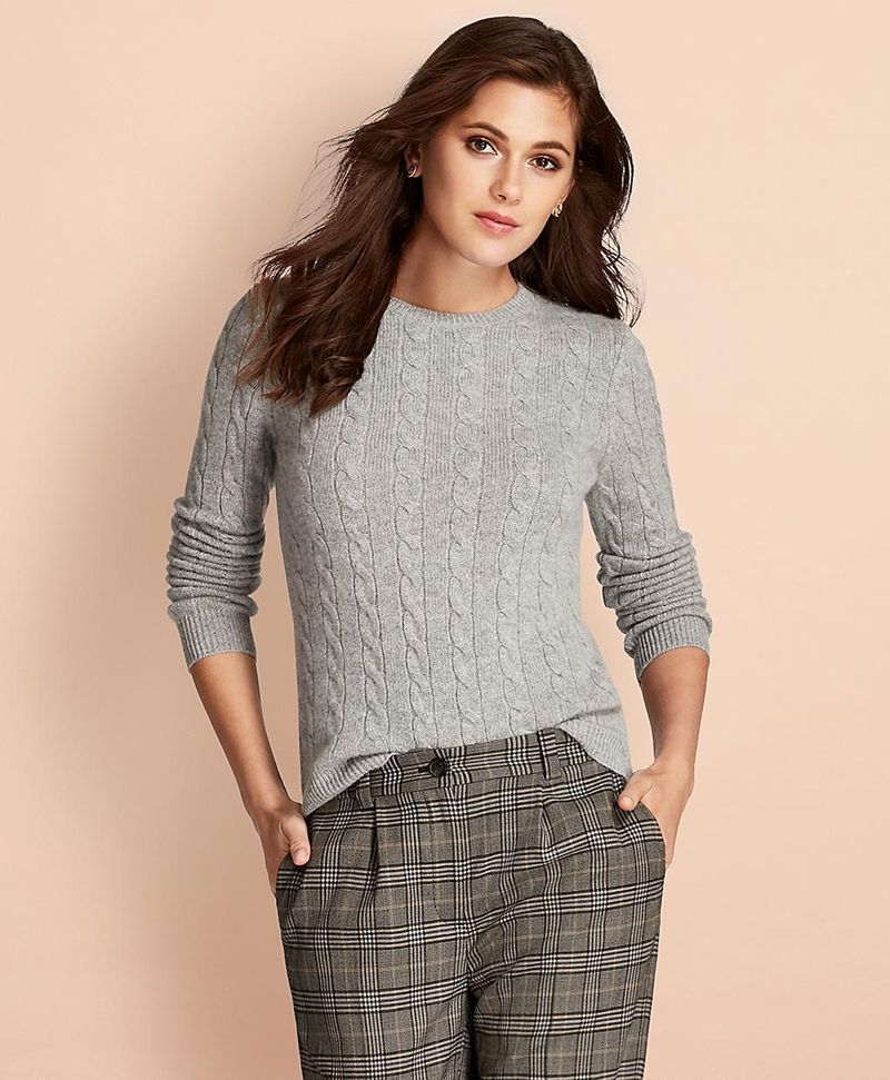 Cable-Knit Cashmere Sweater 썸네일 이미지 1