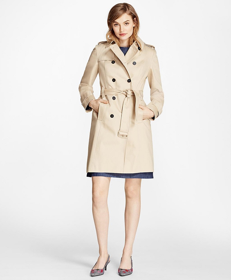Cotton Twill Trench Coat 썸네일 이미지 1