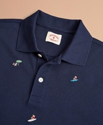 Embroidered Surfer Pique Polo 썸네일 이미지 2