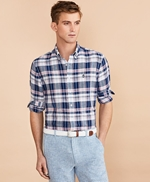 Plaid Linen-Cotton Poplin Shirt 썸네일 이미지 2