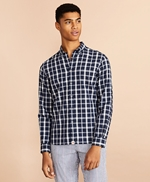 Indigo Checked Dobby Shirt 썸네일 이미지 2