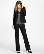 Wide-Leg Stretch Wool Trousers 썸네일 이미지 2