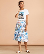 Costal-Print Cotton Midi Skirt 썸네일 이미지 2