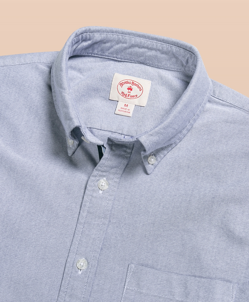 1818 Oxford Solid Short Sleeve Sport Shirt 썸네일 이미지 2