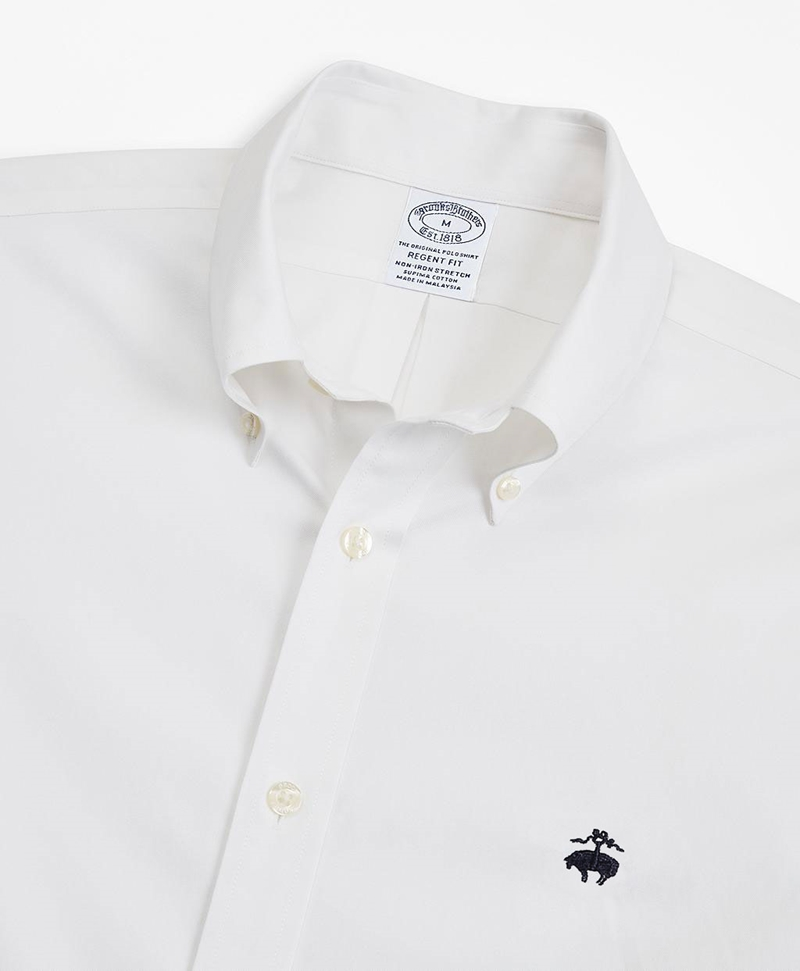 Stretch Regent Fitted Sport Shirt, Non-Iron 썸네일 이미지 2