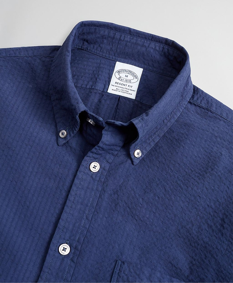 Regent Fitted Sport Shirt, Garment-Dyed Seersucker 썸네일 이미지 2