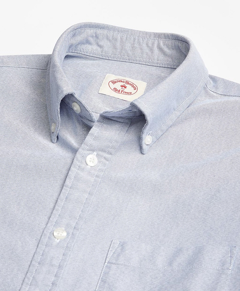 Solid Oxford Polo Button-Down Shirt 썸네일 이미지 2