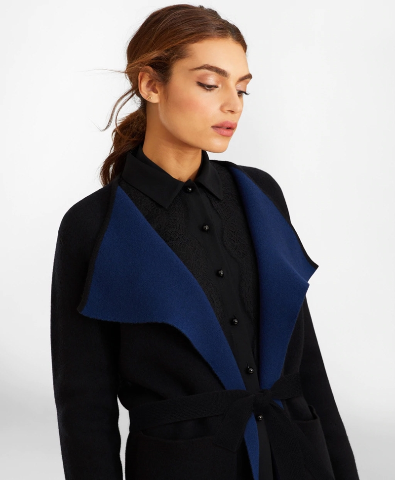 Water-Repellent Stretch Wool Twill Trench Coat 썸네일 이미지 2