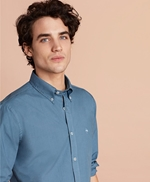 Garment-Dyed Cotton Broadcloth Sport Shirt 썸네일 이미지 3