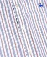 Non-Iron Regent Fit Awning Striped Oxford Sport Shirt 썸네일 이미지 3