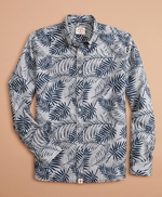Indigo Striped Palm Print Shirt 썸네일 이미지 3