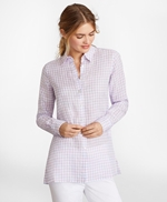 Gingham Irish Linen Tunic 썸네일 이미지 3