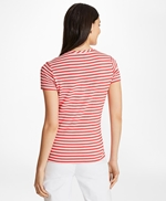 Striped Linen-Blend Jersey T-Shirt 썸네일 이미지 3