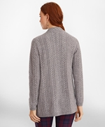 Cable-Knit Cashmere Duster Cardigan 썸네일 이미지 3