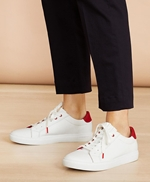 Ruffle-Trim Color-Block Leather Low-Top Sneakers 썸네일 이미지 3