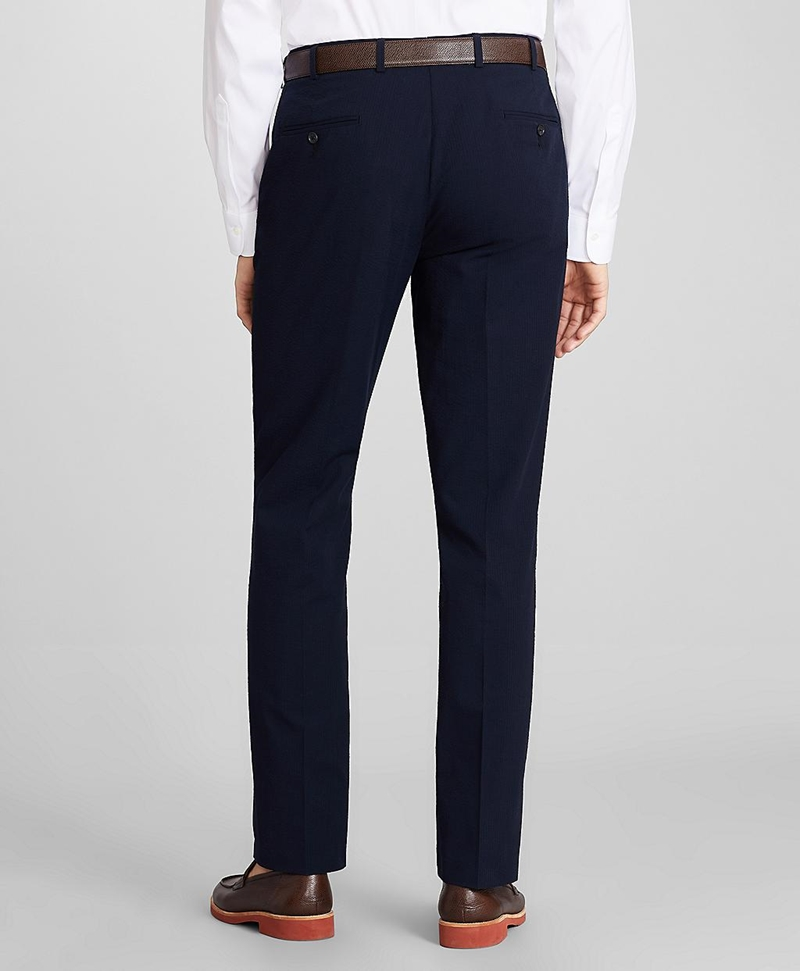 Regent Fit Seersucker Trousers 썸네일 이미지 3