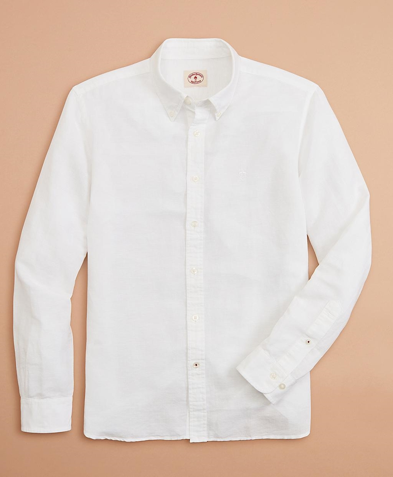 Garment-Dyed Linen-Cotton Shirt 썸네일 이미지 3