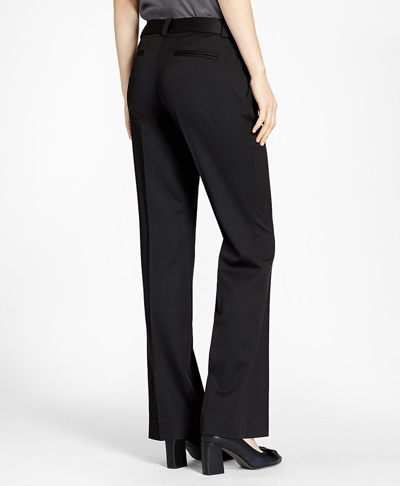 Wide-Leg Stretch Wool Trousers 썸네일 이미지 3