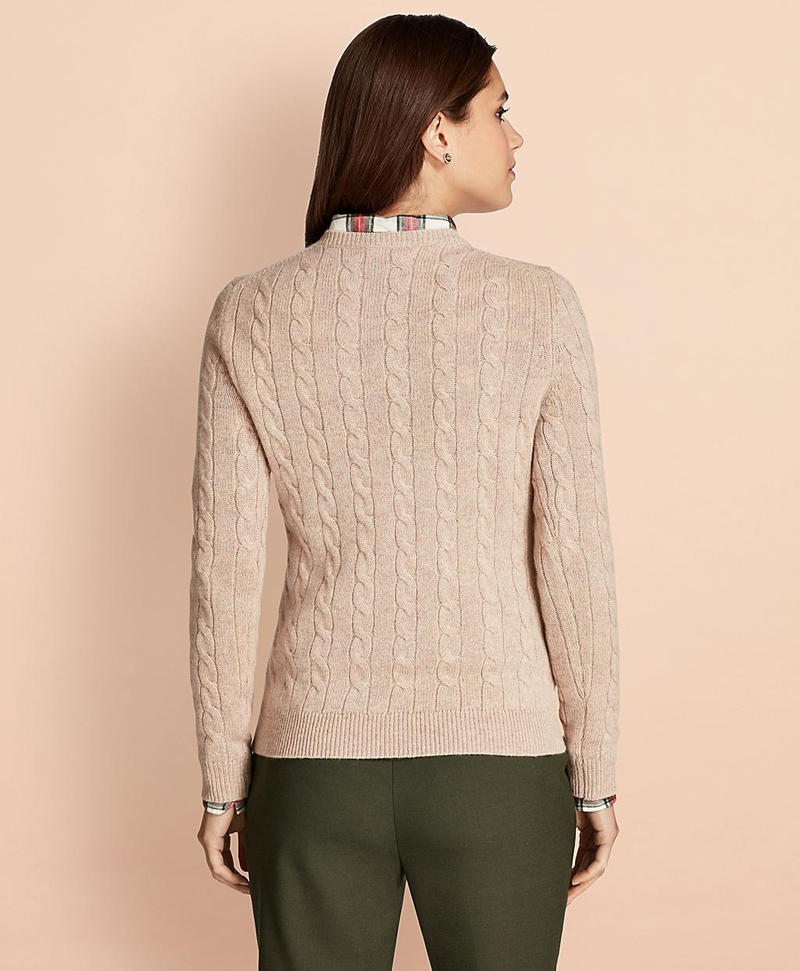 Cable-Knit Cashmere Sweater 썸네일 이미지 3