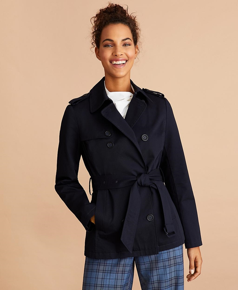 Water-Repellent Cotton Twill Trench Jacket 썸네일 이미지 3