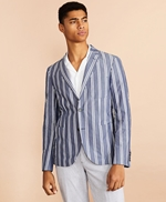 Striped Cotton Chambray Sport Coat 썸네일 이미지 4