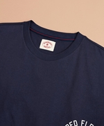 Jersey Cotton Red Fleece NY Graphic T-Shirt 썸네일 이미지 4