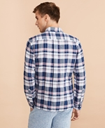 Plaid Linen-Cotton Poplin Shirt 썸네일 이미지 4
