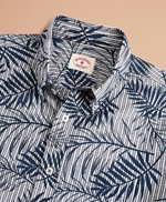 Indigo Striped Palm Print Shirt 썸네일 이미지 4