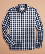 Indigo Checked Dobby Shirt 썸네일 이미지 4