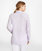 Gingham Irish Linen Tunic 썸네일 이미지 4