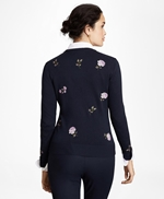 Floral-Embroidered Supima® Cotton Cardigan 썸네일 이미지 4