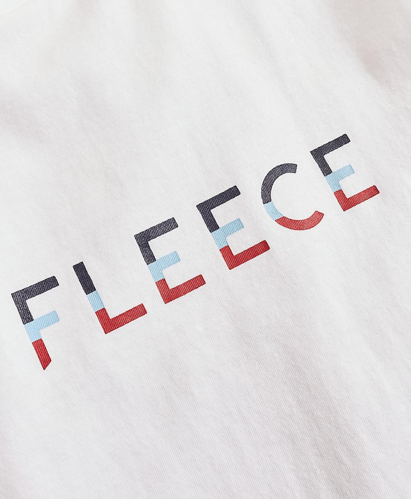 Jersey Cotton Red Fleece Graphic T-Shirt 썸네일 이미지 4