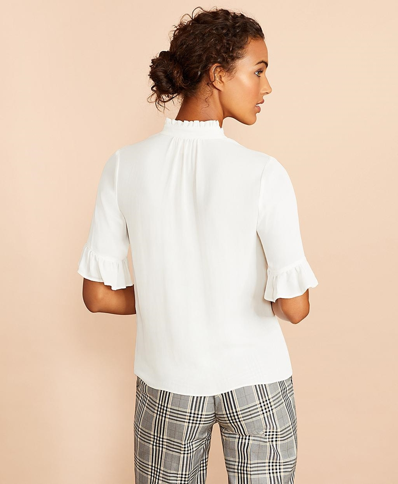Crepe Ruffled Blouse 썸네일 이미지 4