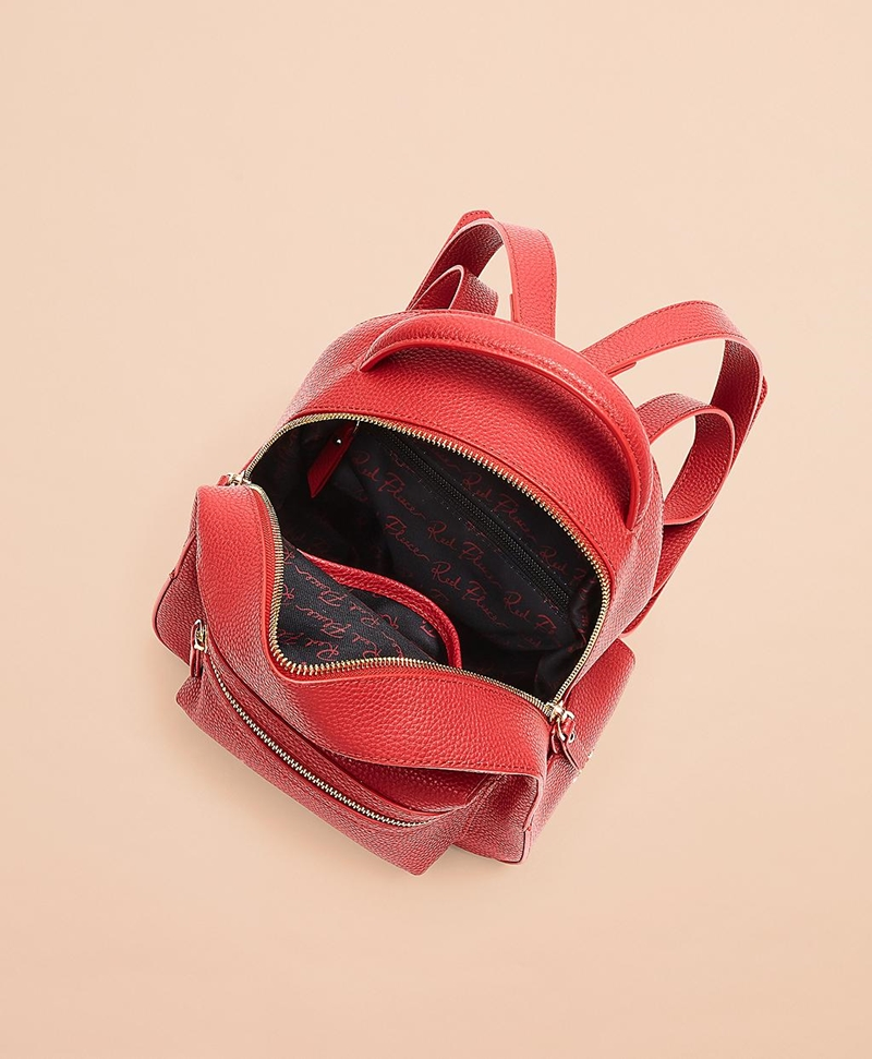 Pebbled Leather Backpack 썸네일 이미지 4