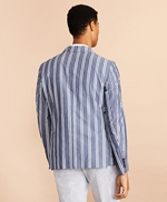 Striped Cotton Chambray Sport Coat 썸네일 이미지 5