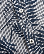 Indigo Striped Palm Print Shirt 썸네일 이미지 5