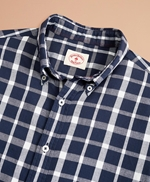 Indigo Checked Dobby Shirt 썸네일 이미지 5