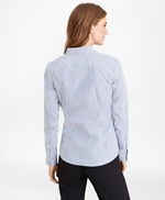 Non-Iron Tailored-Fit Bengal Stripe Supima® Cotton Pinpoint Oxford Shirt 썸네일 이미지 5