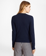 Grosgrain-Trimmed Cotton Cardigan 썸네일 이미지 5