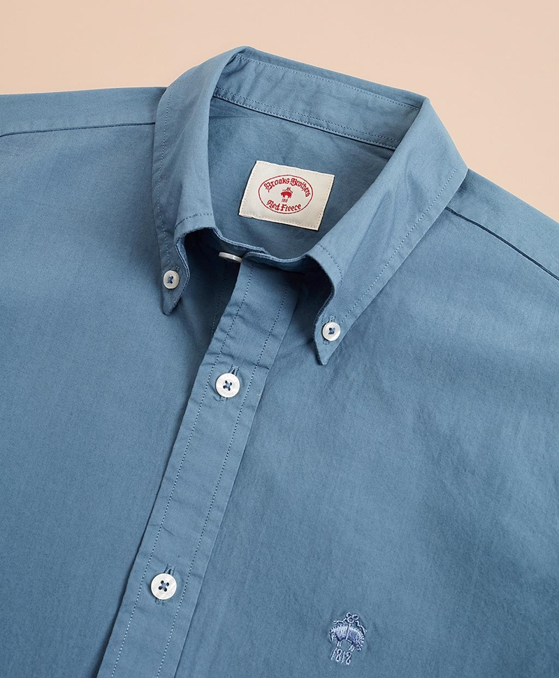 Garment-Dyed Cotton Broadcloth Sport Shirt 썸네일 이미지 5