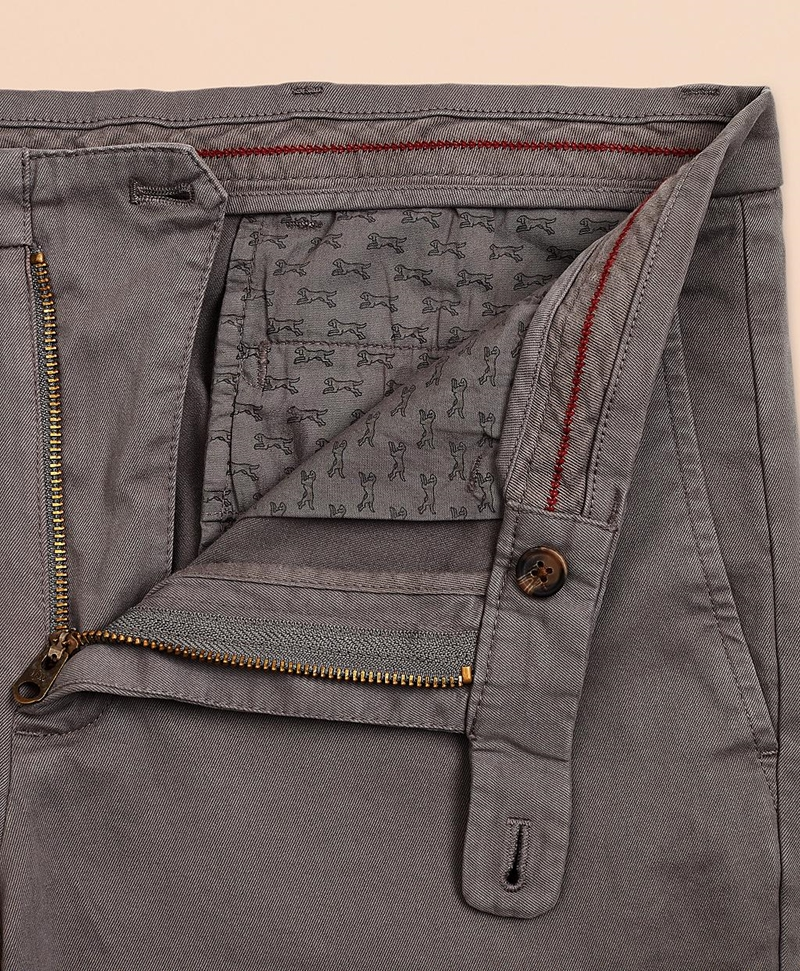 Slim Fit Garment-Dyed Stretch Chinos 썸네일 이미지 5