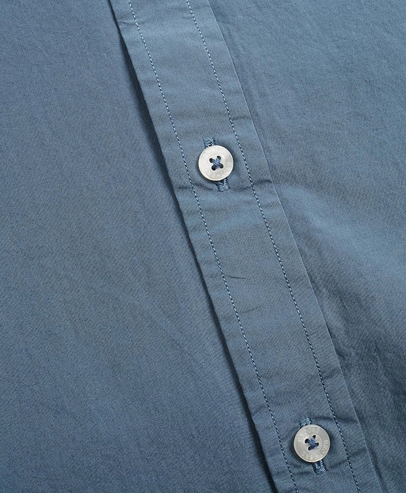 Garment-Dyed Cotton Broadcloth Sport Shirt 썸네일 이미지 6