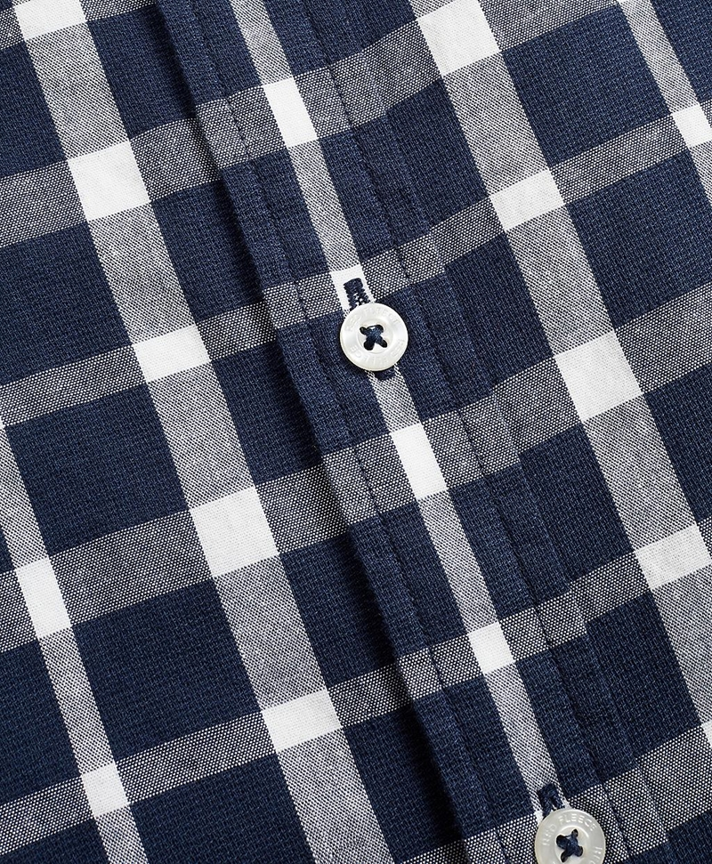 Indigo Checked Dobby Shirt 썸네일 이미지 6